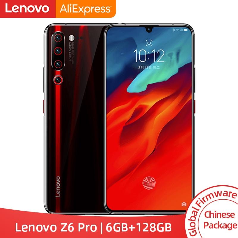 ROM globale d'origine Lenovo Z6 Pro 8GB 128GB Snapdragon 855 Octa Core 6.39 FHD écran Smartphone arrière 48MP Quad caméras