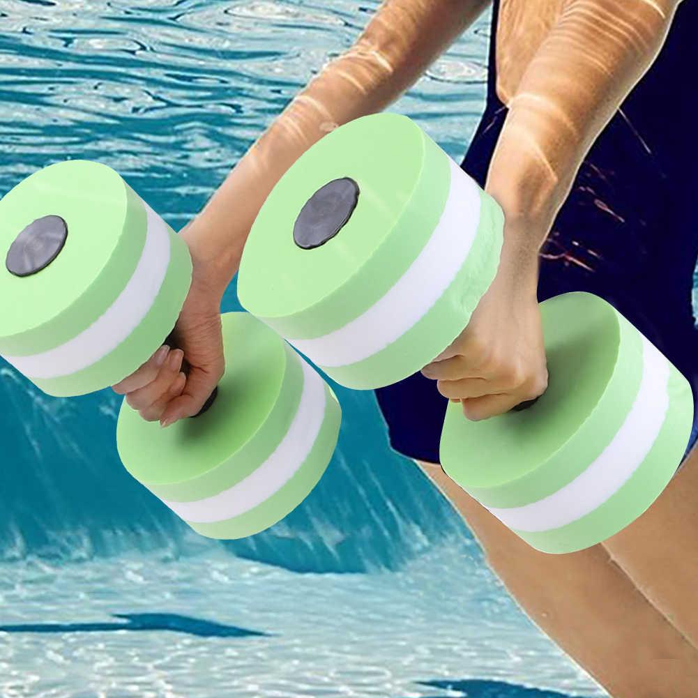 1 Paar Eva Water Schuim Drijvende Halter Zwembad Water Gewicht Aerobics Automatische Float Aquatic Barbell Speelgoed