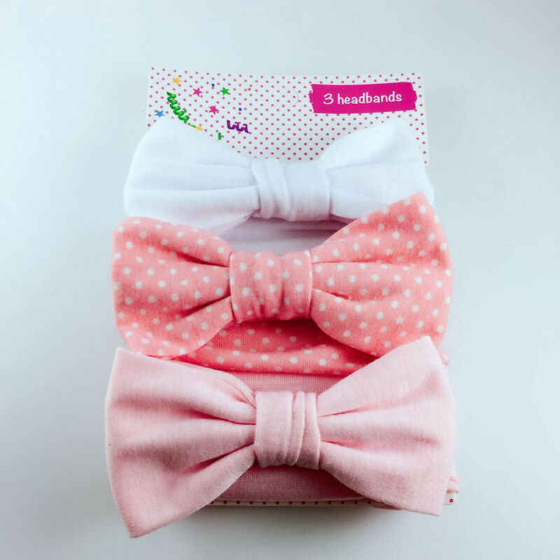 For 3PCS/Set Bow Headband Elastic Hair Band Baby Girls Kids Hair Accessories Set Lovely Kid Girl Floral Headwear Accessories