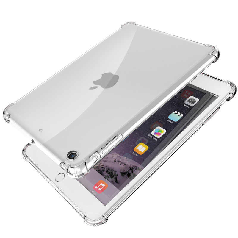 Anti-Val Clear Case Voor Ipad Air 2019 3 2 9.7 2018 2017 Mini 4 2 3 5 Zachte tpu Silicon Cover Voor Ipad Air Pro 10.5 Mini5 Case