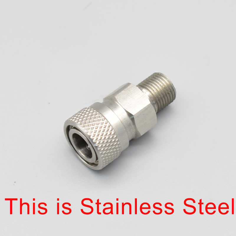 """Tainless Steel Paintball Quick Disconnect Female Set 1//8/"""" NPT threads"""