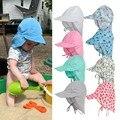 UPF50 + UV Sonnenschutz Hüte Baby Kinder Jungen Mädchen Unisex Eimer Hüte Sommer Neugeborenen Sunbonnet Hüte Fischer Kappen