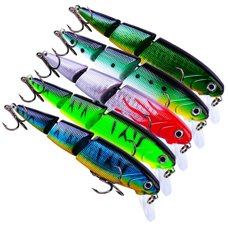 110mm/14.7g Multi Section 3D Bionic Bait Lifelike Artificial Fishing Lure  Colorful Fishing Bait