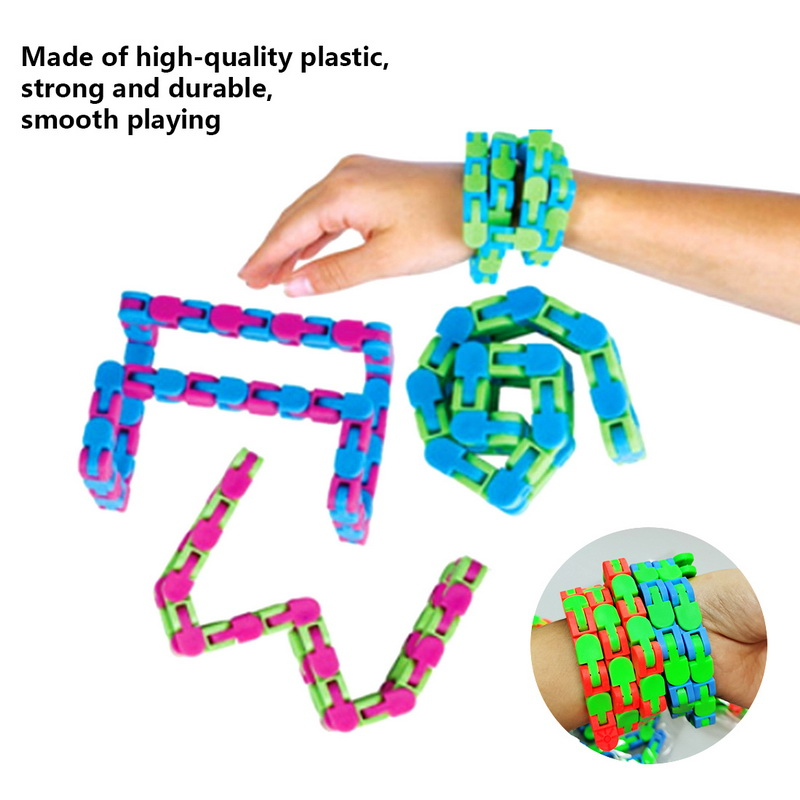 Toy Bracelet Chain Fidget-Toys Spinner Snake Anti-Stress Adult Children for Kids Puzzle