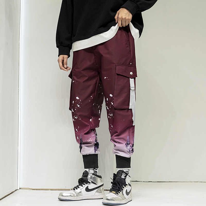 Pantalones Para Trotar Informales Para Hombre Ropa De Calle Para Correr Con Cintura Elastica Estampado A La Moda Cargo Tactico 2021 Pantalones Informales Aliexpress