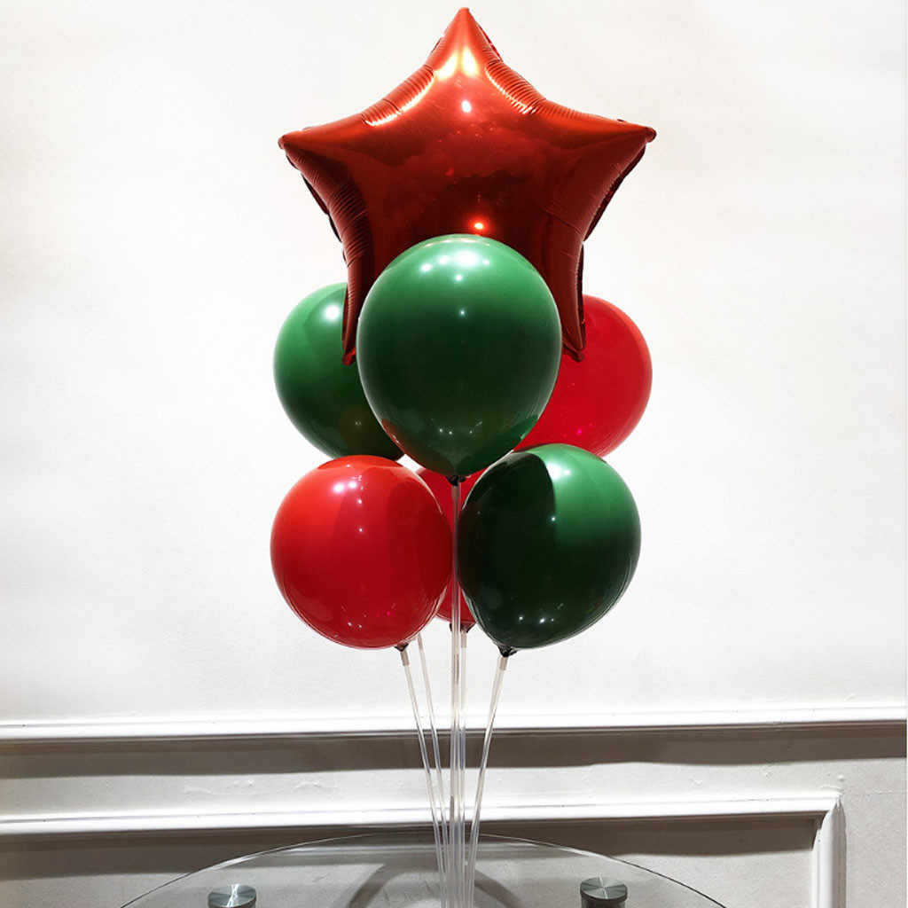 1PC יום הולדת בלון אוויר כדורי שקוף מקל Stand Baloon מפלגת דקור קיד מבוגרים קשת שולחן בלון אביזרי בעל