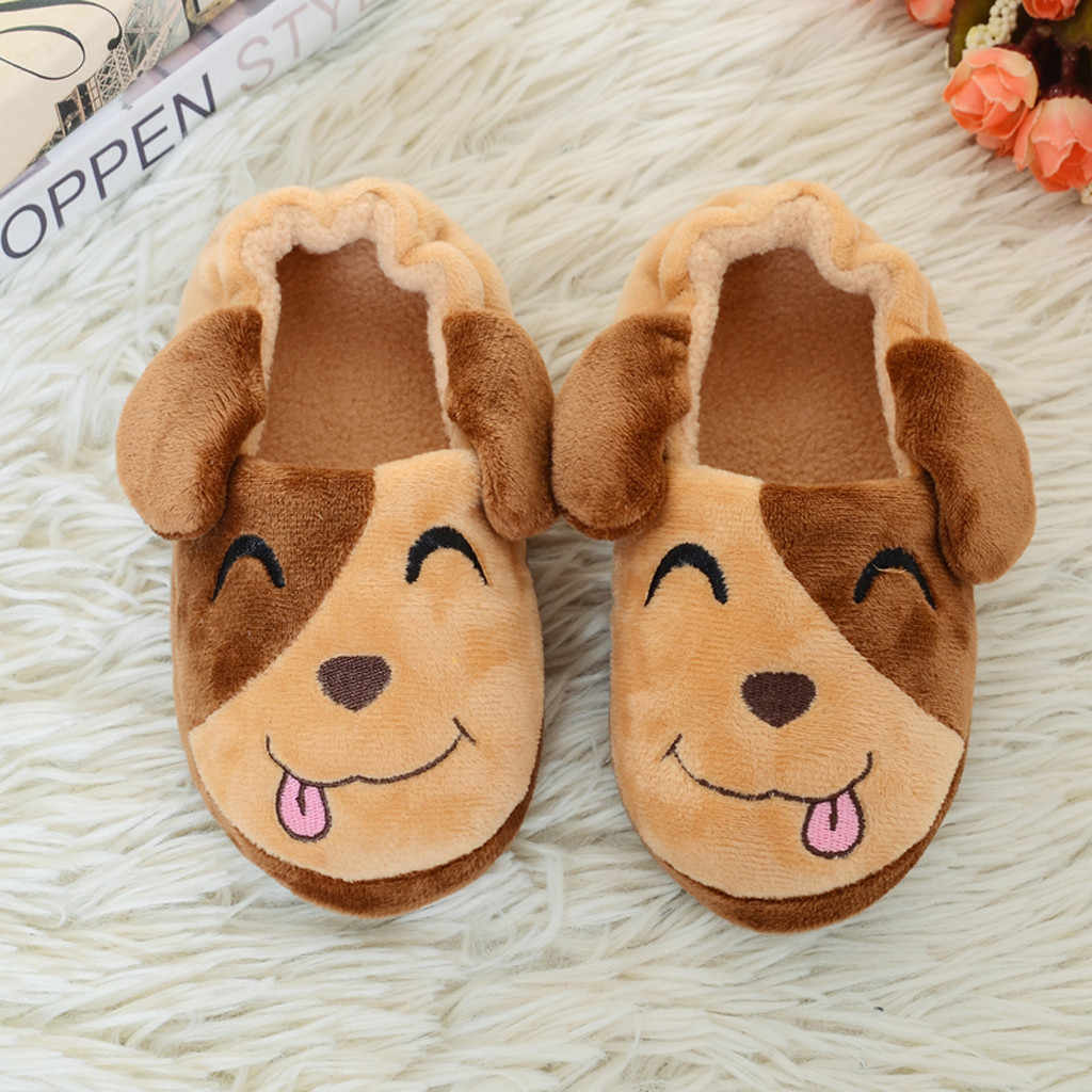 Toddler Infant Kids Winter Slippers Baby Warm Shoes Boys Girls Cartoon Soft-soled Home Shoes Kids Hotel Slippers Zapatillas Nino