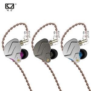 Image 1 - Kz Zsn Pro kulak monitörü kulaklık Metal kulaklık hibrid teknolojisi Hifi bas kulakiçi spor gürültü iptal kulaklık 2 Pin