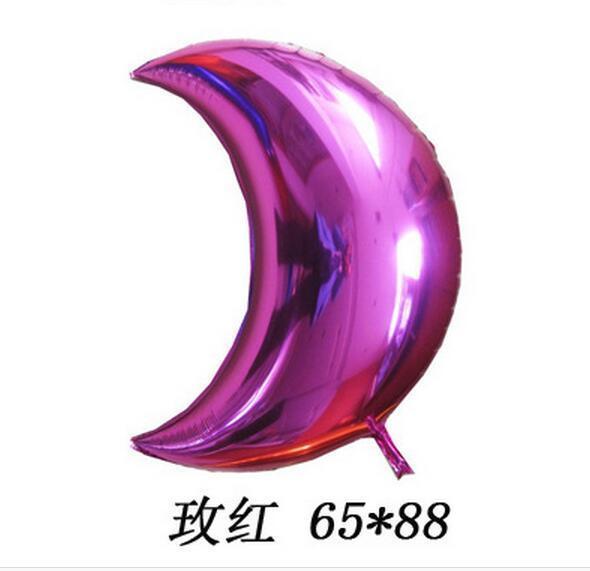 18 inch Round Eid Mubarak Foil Balloons Hajj Mubarak Decorations Star Moon Helium balloon Ramadan Kareem Eid Al-Fitr Supplies