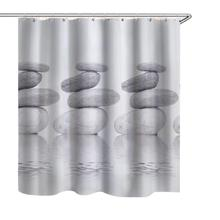 Water-Repellent Polyester Mildew Washable Light Weight Stylish Resistant Cobble Shower Curtain Drape Decor with 12 Hooks deer water resistant shower curtain
