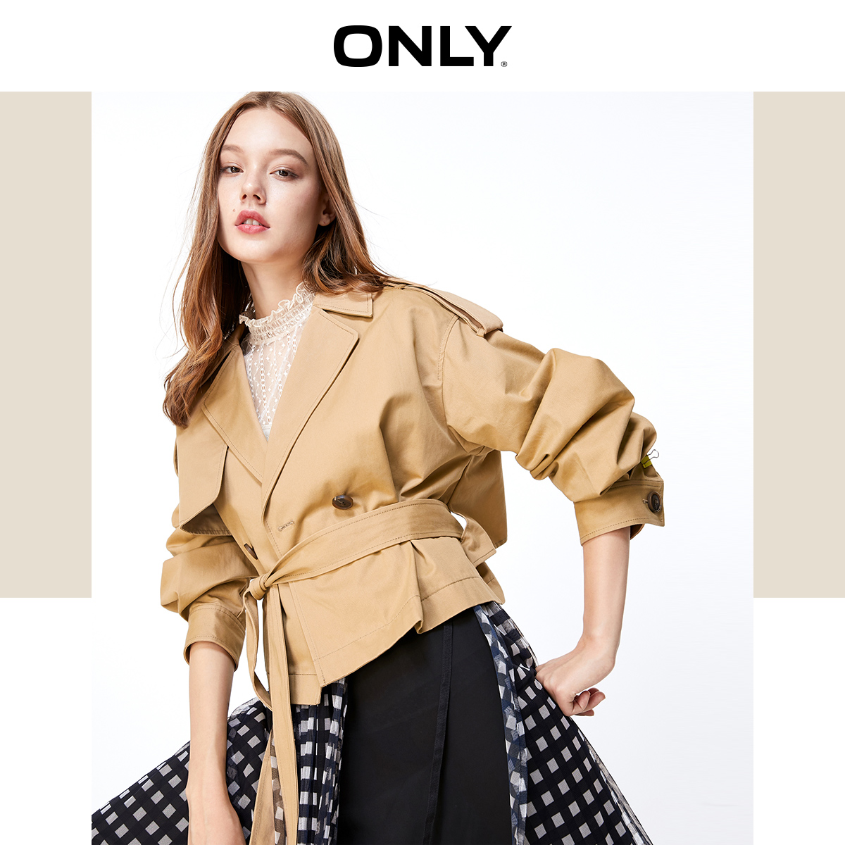 ONLY Women's Losoe Fit Trench Coat | 119336585