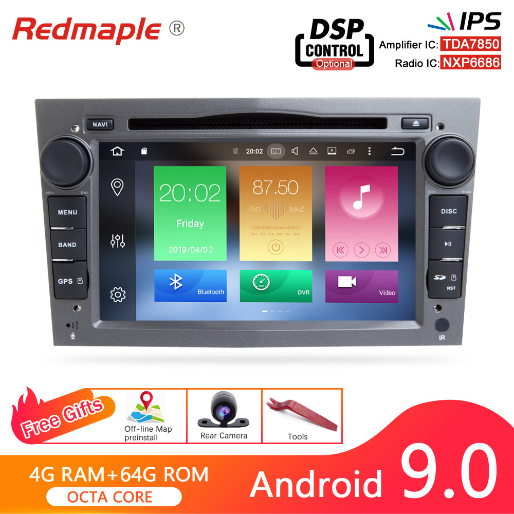 Android 9.0 Car Radio DVD Navigation Player For Opel Astra H Zafira Vectra Vivaro Tigra Corsa C <font><b>Carro</b></font> Auto GPS Video Multimedia image
