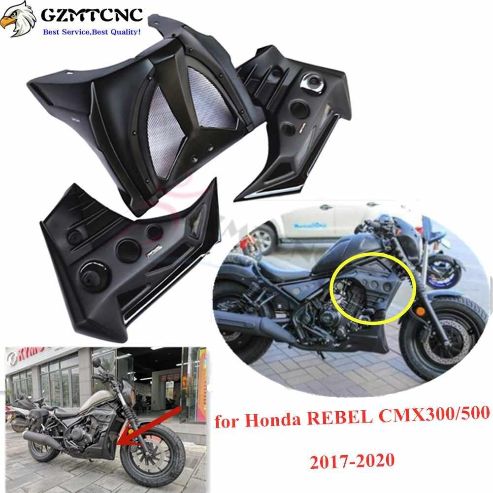 AHOLAA Left Engine Stator Case Cover Frame Slider Crash Pad Protector for Honda Rebel CMX 300 500 CMX300 CMX500 2017 2018 2019 2020 New. Black