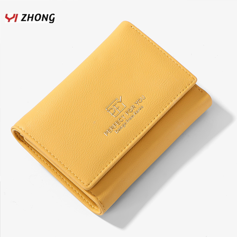 Leather Mini Many Departments Wallets And Purses For Women Brand Ladies Zipper Coin Card Holder Clutch Wallets Female Money Bag