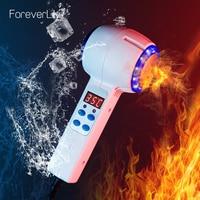 Gorący zimny młotek krioterapia niebieski Photon leczenie trądziku masażer do twarzy Anti-aging Lifting odmładzanie urządzenie do pielęgnacji twarzy