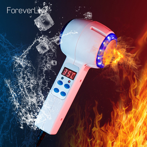Hot Cold Hammer Cryotherapy Blue Photon Acne Treatment Skin Beauty Massager Anti-aging Lifting Rejuvenation Facial Machine