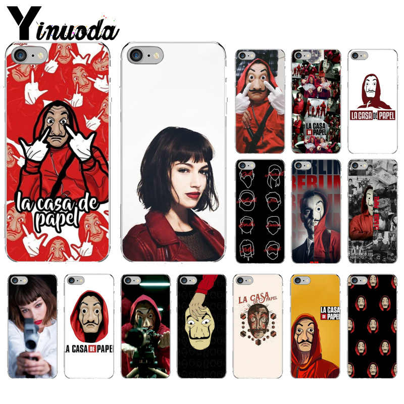 Yinuoda La Casa De Papel Money Heist TPU Soft Silicone Phone Case Cover for iPhone X XS MAX 6 6S 7 7plus 8 8Plus 5 5S XR