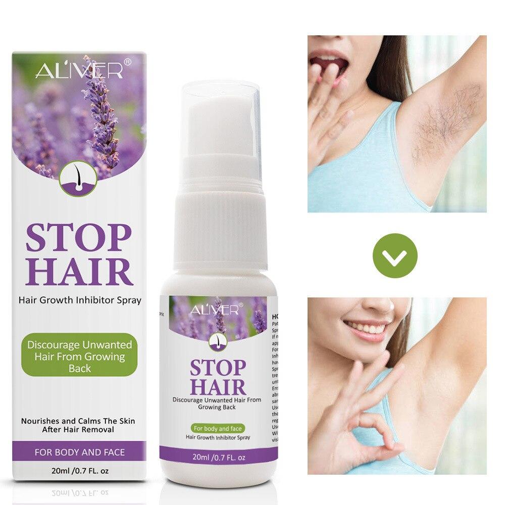 Permanant Hair Growth Removal Inhibitor Spray Beard Bikini Intimate Legs Body Armpit Painless Facial Stop Hair 1