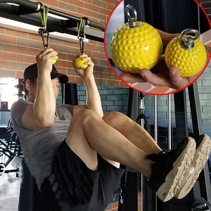 Image 5 - 97/72mm Hanging Pull Up Climbing Arm Ball Sports Kits Strength Muscle Training Hand Grip Power Wrist Fitness Force Ball Home Gym