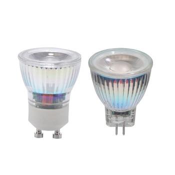 GU10 MR11 COB LED Bombilla 7W 110V 220V regulable LED lámpara CA/CC 12V 35mm Led foco cálido/naturaleza/blanco frío GU 10 COB LED Luz
