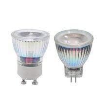 Gu10 mr11 lâmpada led regulável, 7w 110v 220v ac/dc 12v 35 holofote led de mm, quente/natureza/branco frio, gu, luz led