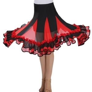 Image 3 - جديد قاعة الرقص تنورة رقص امرأة قاعة الرقص فساتين المنافسة الحديثة القياسية الأداء الفالس السالسا رومبا أزياء رقص