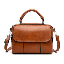 Solid Color Soft PU Leather Women Bags High-capacity Vintage Fashion Shoulder Bags Ladies Casual Lager Bags for Women 2019