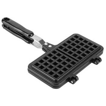 1Pc Rectangle Shape Non-stick Waffle Mold Baking Pan Making Tool Maker Press Plate Kitchen Breakfast Machine Cake Maker