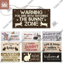 Putuo decoração coelho sinais presentes para animais de estimação placa de madeira adorável amizade pingente de madeira para casas de coelho de estimação decoração de casa
