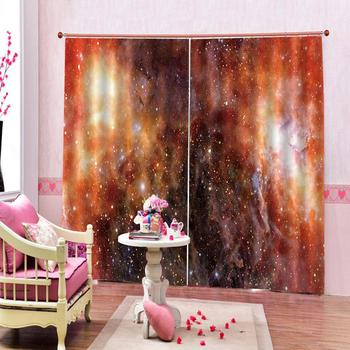 stars curtains Window Blackout Luxury 3D Curtains set For Bed room Living room Office Hotel Solid color curtain
