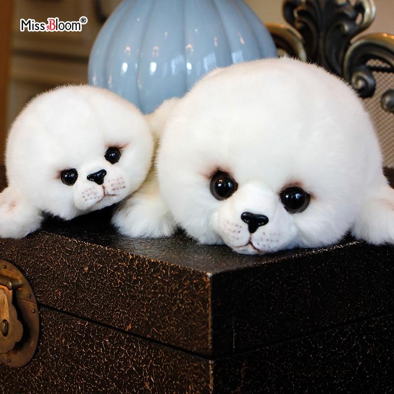 Dropshipping Soft Cute Seals Plush Toy Sea World Animal Sea Lion Plush Stuffed Doll Big-Eyes Baby Birthday Gift for Kids Dolls