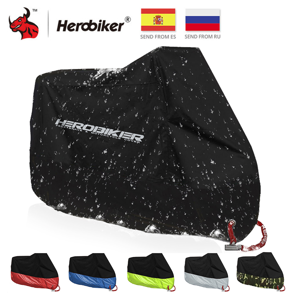 HEROBIKER Motorcycle Cover Bike All Season Waterproof Dustproof UV Protective Outdoor Indoor Moto Scooter Motorbike Rain Cover