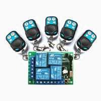 433Mhz Universal Wireless Remote Control Switch DC12V 4CH relay Receiver Module and 4 channel RF Remote 433 Mhz Transmitter