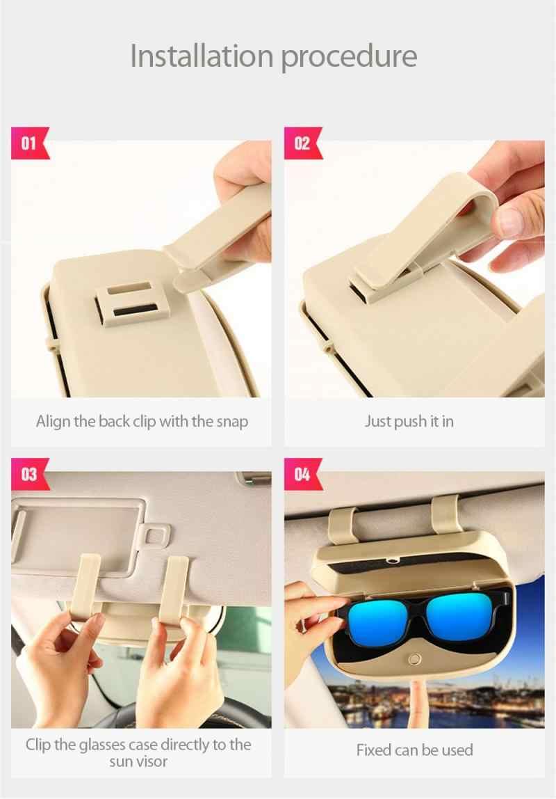 Soporte de almacenamiento para gafas de sol para autom/óvil caja de soporte para almacenamiento de gafas de sol para autom/óvil estuche para gafas apto para Skoda Octavia Fabia Roomster Beige