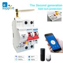 EWeLink 2P WiFi Schalter Smart Circuit Breaker Automatische schalter recloser überlast kurzschluss schutz Schalter arbeit mit Alexa