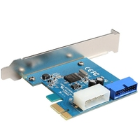PCI-E to USB 3.0 Expansion card with NEC converter Interface Expansion Card I/O card with 4 PIN Power supply PCI-E Express Card