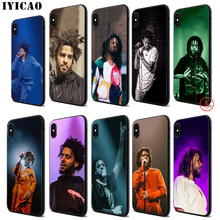 IYICAO J Cole Rap Trap Soft Black Silicone Case for iPhone 11 Pro Xr Xs Max X or 10 8 7 6 6S Plus 5 5S SE