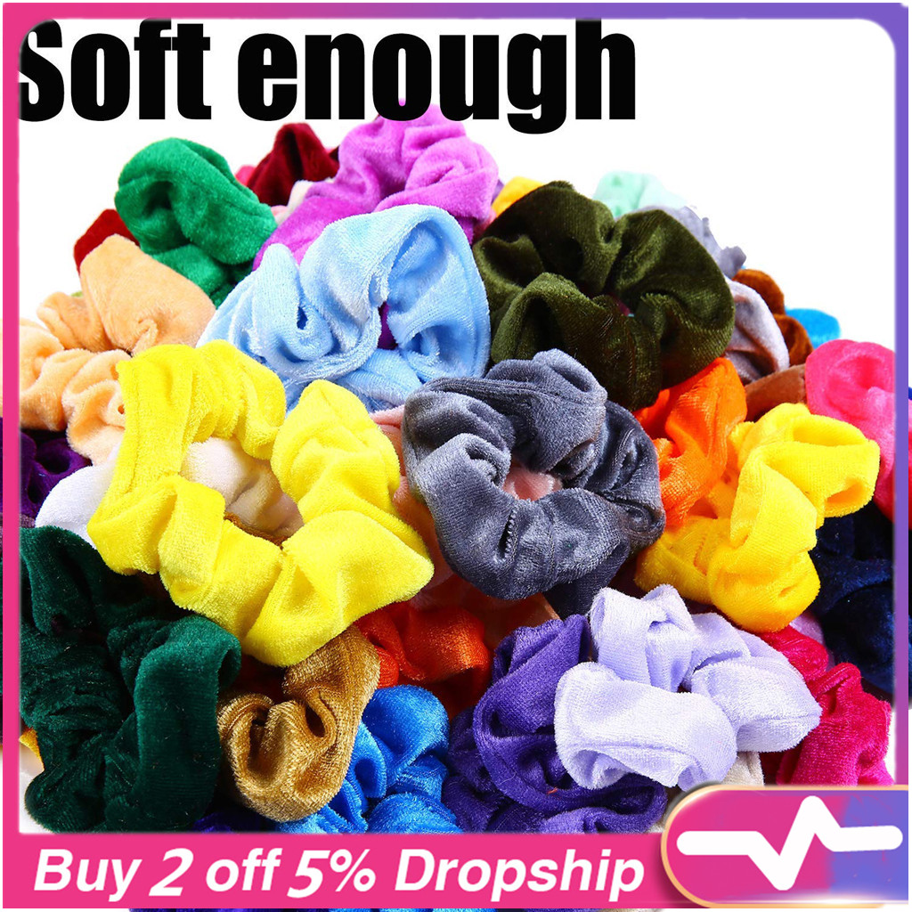 2019 Genuine 18 Pcs Hair Scrunchies Velvet Elastics Hair Ties Bands Ties Ropes Gifts Hair Accessories Schrunchies Pack 40