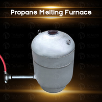 Propane melting furnace for melting gold, silver, copper, aluminum, platinum, and other metals with a melting point below 1400