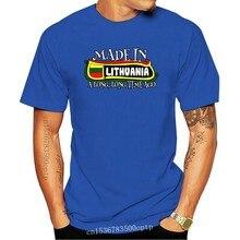 Maglietta moda uomo t-shirt bioshick lituania lungo-camicia molto tempo fa