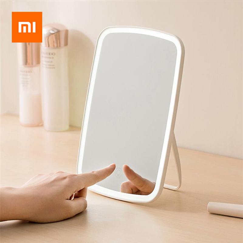 Xiaomi Mijia Makeup Mirror LED Light Portable Folding Light Mirror Dormitory Home Desktop Portable Mirror Smart Product image
