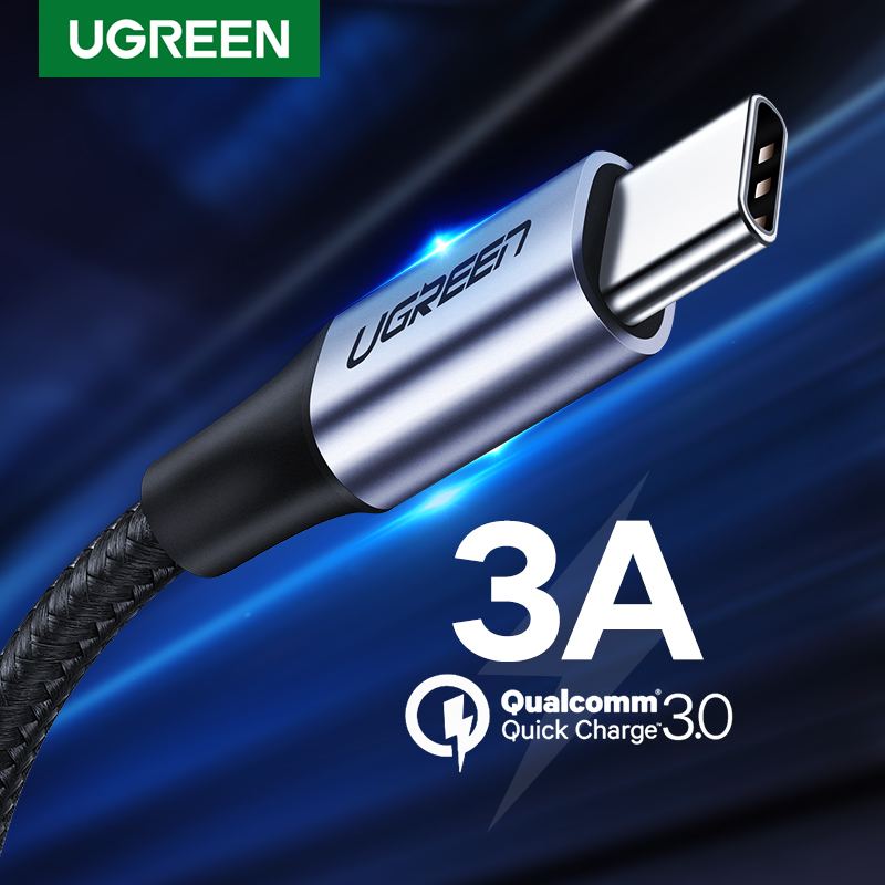 UGREEN USB C к USB A кабель USB-C зарядное устройство типа C кабель для быстрой зарядки для Samsung Galaxy S9 Huawei P30