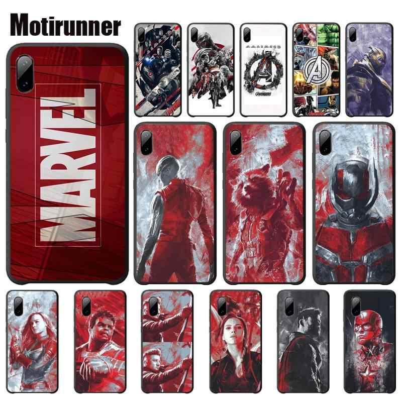 Motirunner Marvel Avengers Luminoso Temperato Mobile Per Il Caso di Xiaomi Redmi Nota 4x 4a 5 5a Più 6 6a Pro S2 telefono Accessori