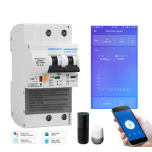 2p ewelink monofásico ruído trilho wi fi inteligente consumo de energia medidor kwh wattmeter com alexa google para casa inteligente