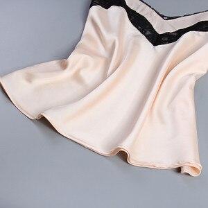 Image 5 - Julys Song 2 Bộ Phụ Nữ Bộ Đồ Ngủ Bộ Bám Bẩn Lụa Sexy Đồ Ngủ Người Phụ Nữ Hồng Trên Và Quần Dài Dây Đeo Sling Mùa Hè đồ Ngủ Homewear