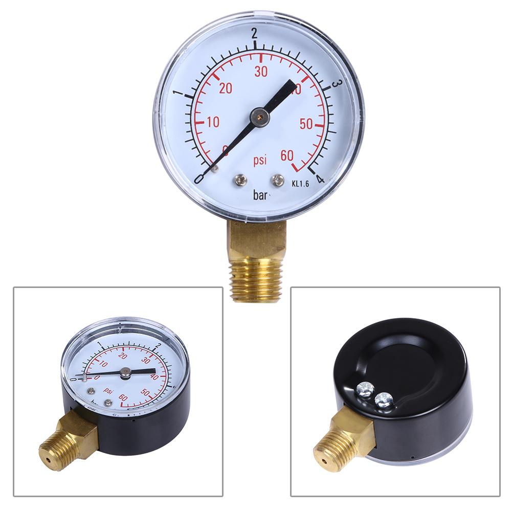50mm manometer Pool Filter Water Pressure Dial Hydraulic Pressure Gauge manometre pression Spa Filter Water Pressure