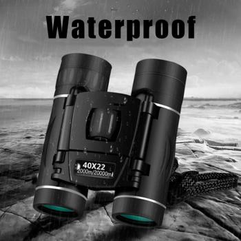 Binoculars Telescope 40x22 HD Binoculars Powerful 2000M Long Range Folding Mini Telescope Night Vision Hunting Telescope zoom telescope 40x22 folding binoculars with low light night vision for outdoor bird watching travelling hunting camping 2000m a