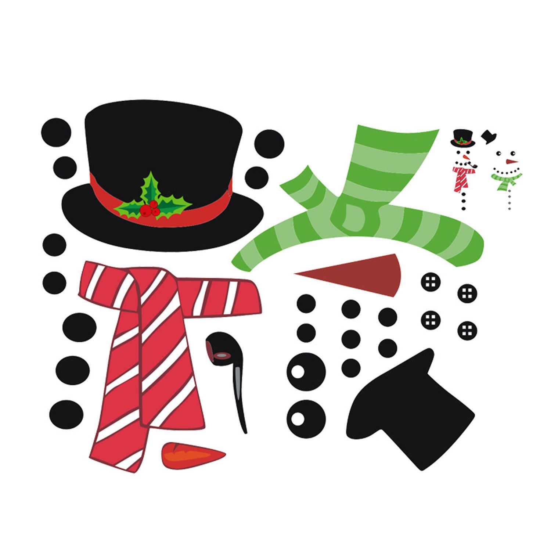 B Rameng 1 Juego Navidad Pegatina Navidad Mu/ñeco De Nieve Imanes De Nevera PVC Pegatinas Electrost/áticas para Puerta de refrigerador mu/ñeco de Nieve
