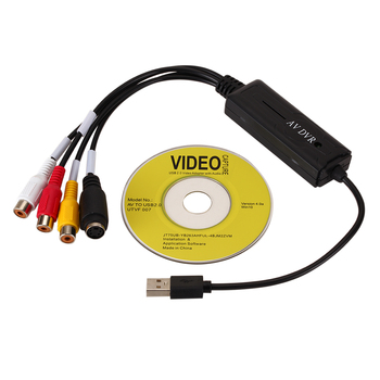 Portable Easy to cap USB2.0 Audio Video Capture Card Adapter VHS To DVD Video Capture Converter For Win7/8/XP/Vista 1