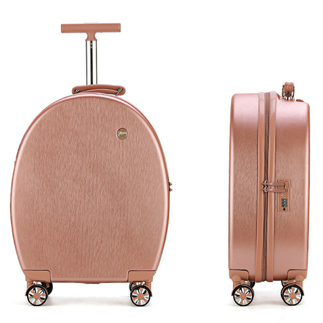 Cute Luggage PC+ABS Travel Trolley Case 20 Inch Password Box + Shoulder Bag Back Portable Suitcase Women Boarding Chassis Pack